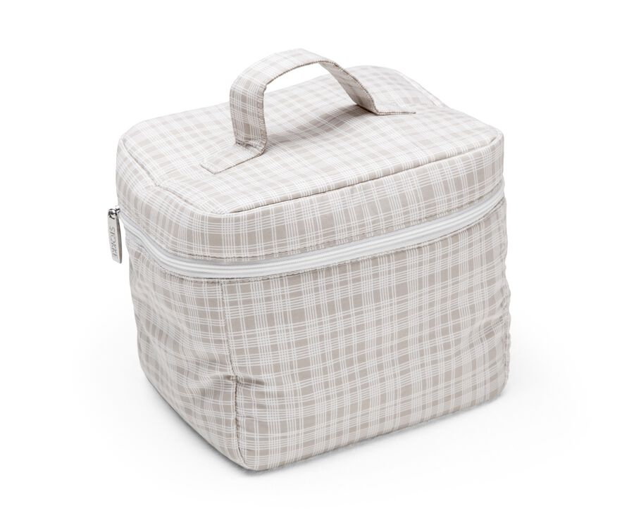 Diaper Bag, Checks Beige