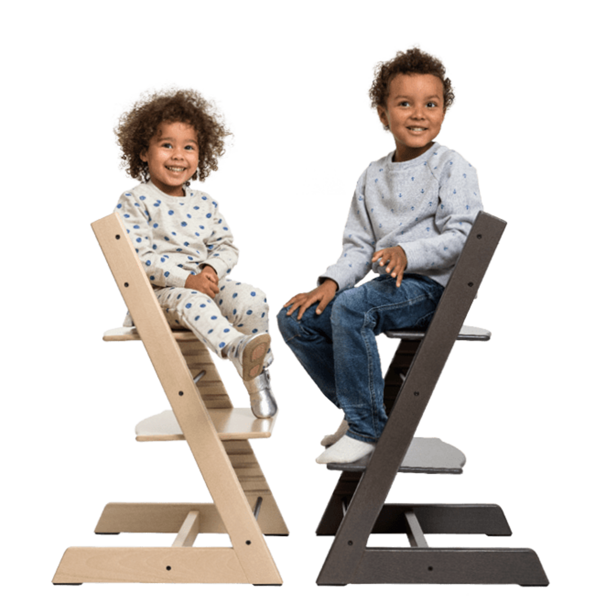 Children of all ages enjoy sitting on Tripp Trapp