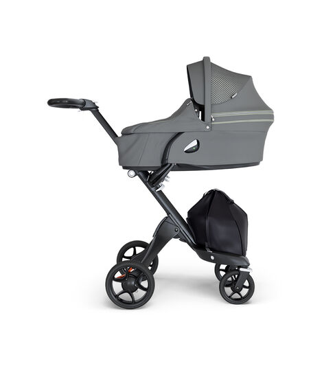 Stokke® Xplory® Black Chassis with Black Handle Athleisure Green, Athleisure Green, mainview view 3