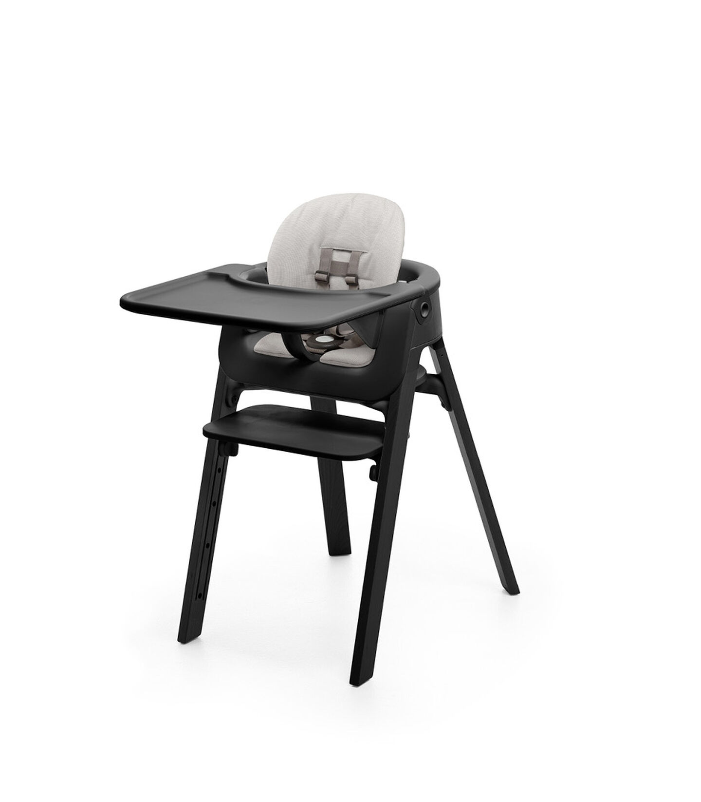 Stokke® Steps™ HC Complete Bundle Black w Grey Cushion, Black, mainview view 1