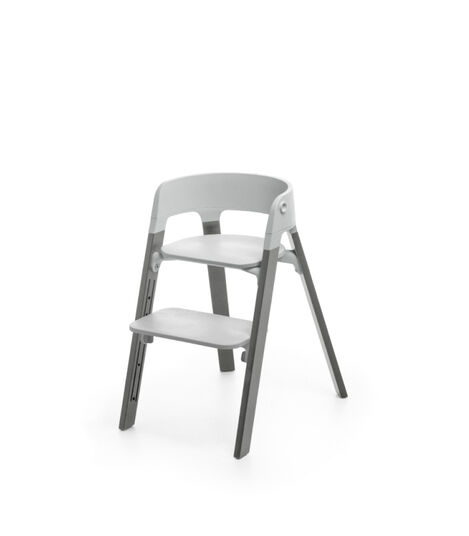Stokke® Steps™ Storm Grey with Light Grey seat.