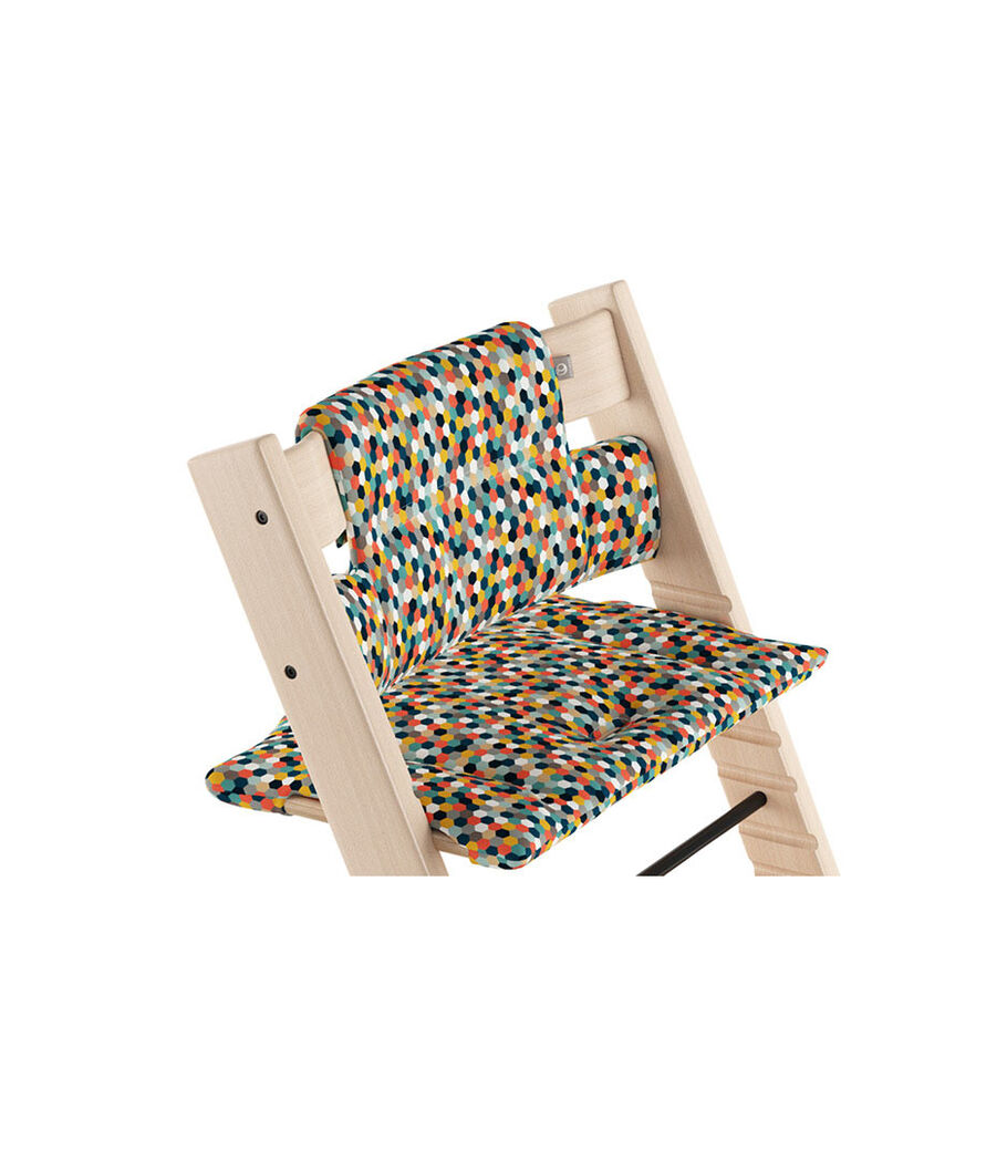 Tripp Trapp® Natural with Classic Cushion Honeycomb Happy.  view 46