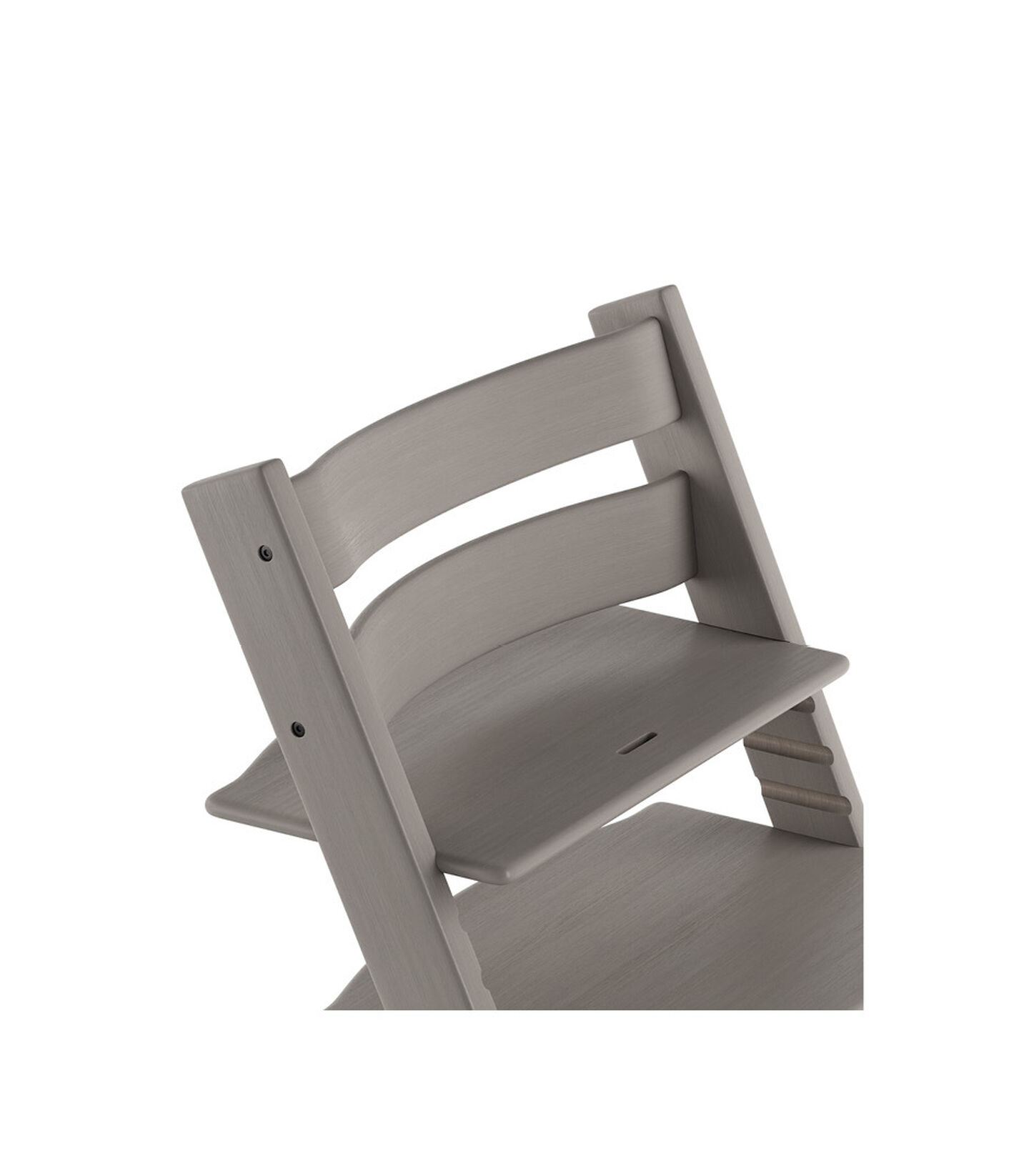 Tripp Trapp® Chair close up 3D rendering Oak Greywash