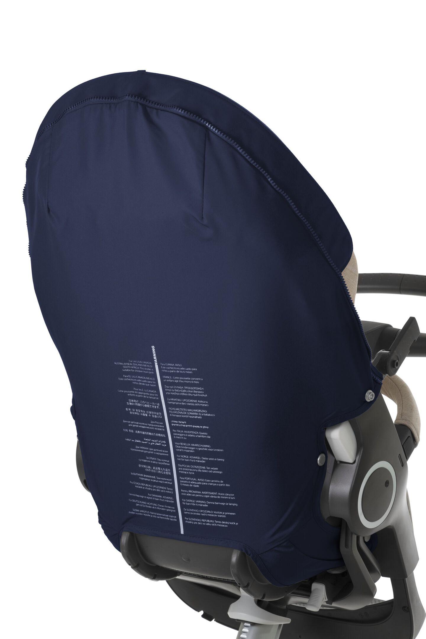 Stokke® Xplory® Back Cover Deep Blue, Deep Blue, mainview