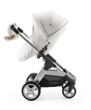 Stokke® Crusi™ and Stokke® Stroller Seat with Winter Kit Pearl White.