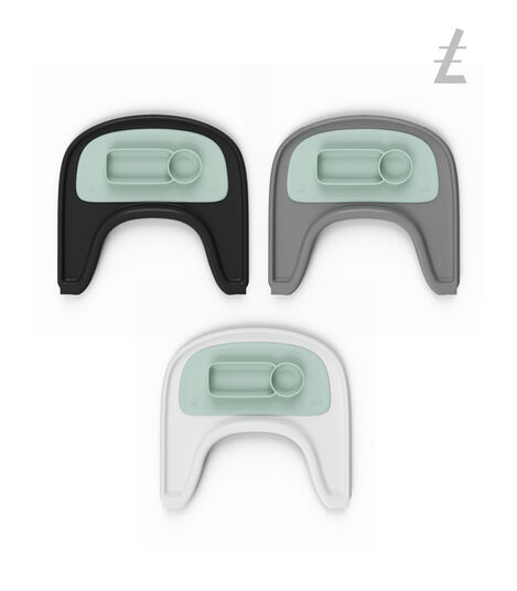 ezpz™ by Stokke®, Soft Mint. Stokke® Tray for Tripp Trapp®.