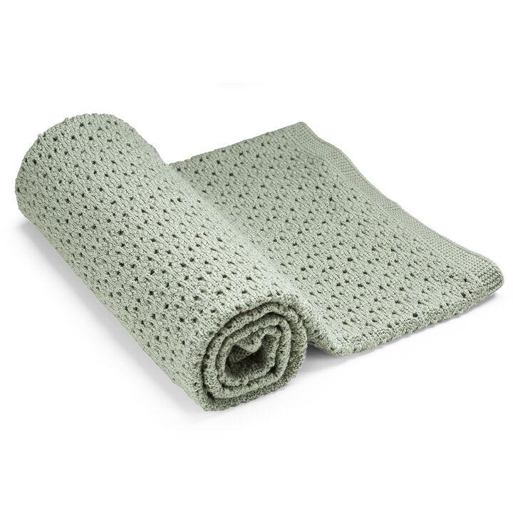 Stokke® Blanket Merino Wool, Green, mainview view 1