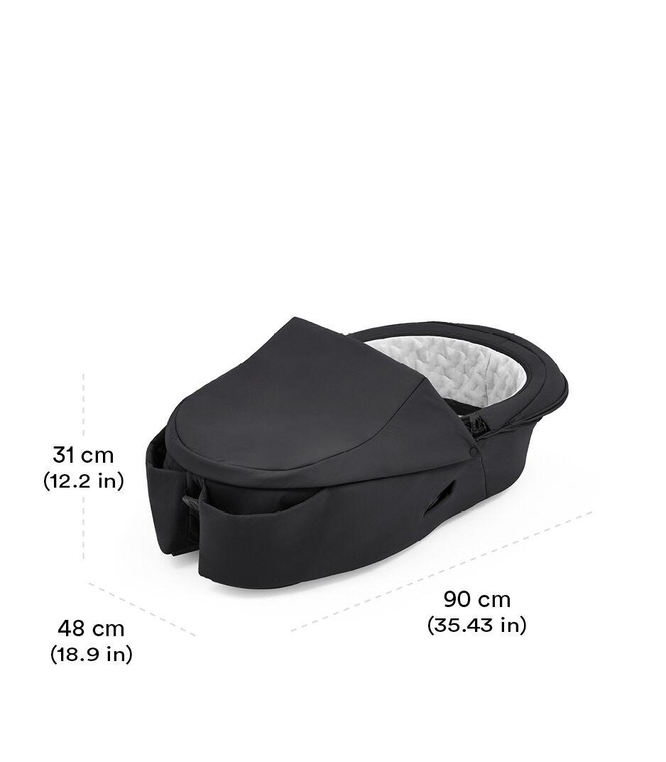 Stokke® Xplory® X Carry Cot Rich Black view 1