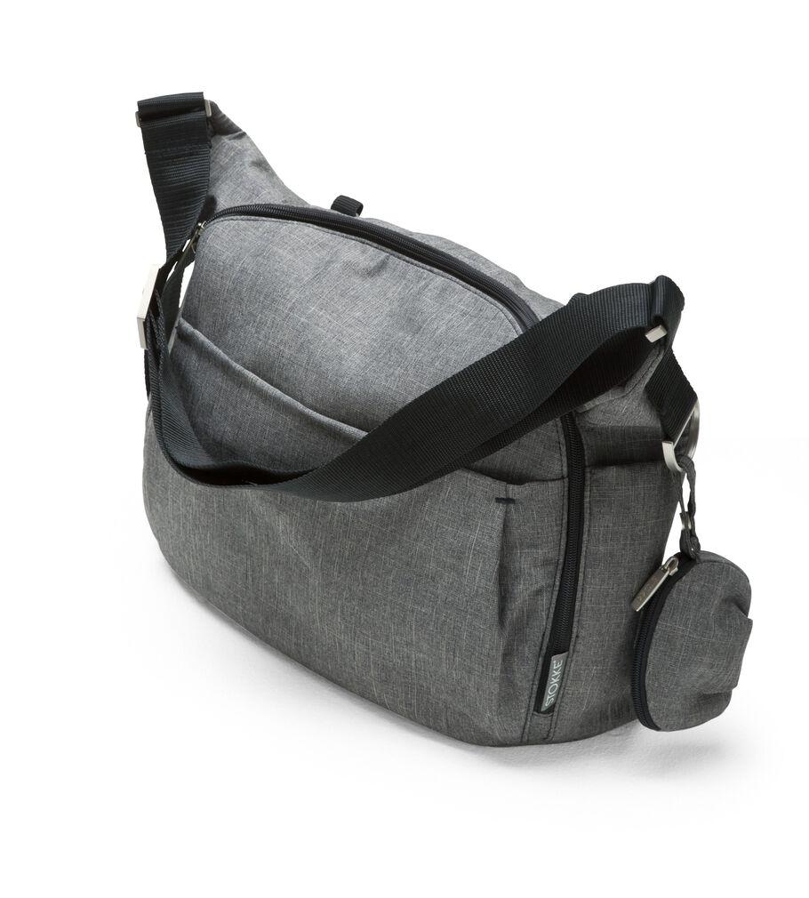 Stokke® Stroller Changing Bag, Blue Melange.