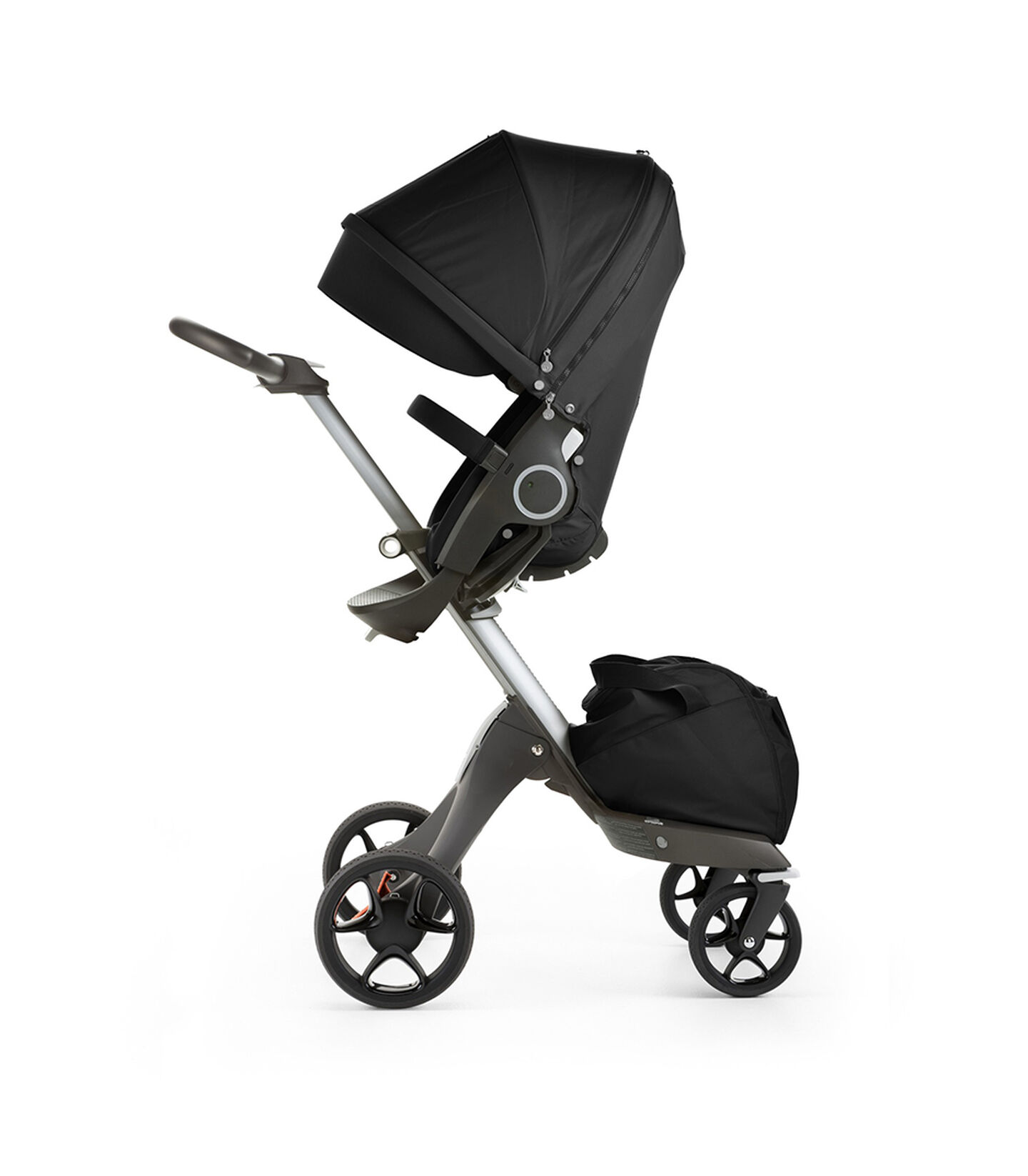 Stokke® Xplory® with Stokke® Stroller Seat, Black. New wheels 2016.