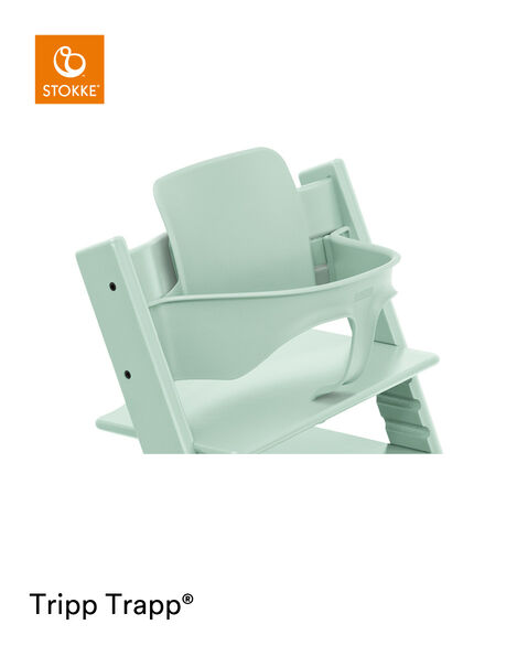 Tripp Trapp® Chair Soft Mint, Beech, with Baby Set. view 6