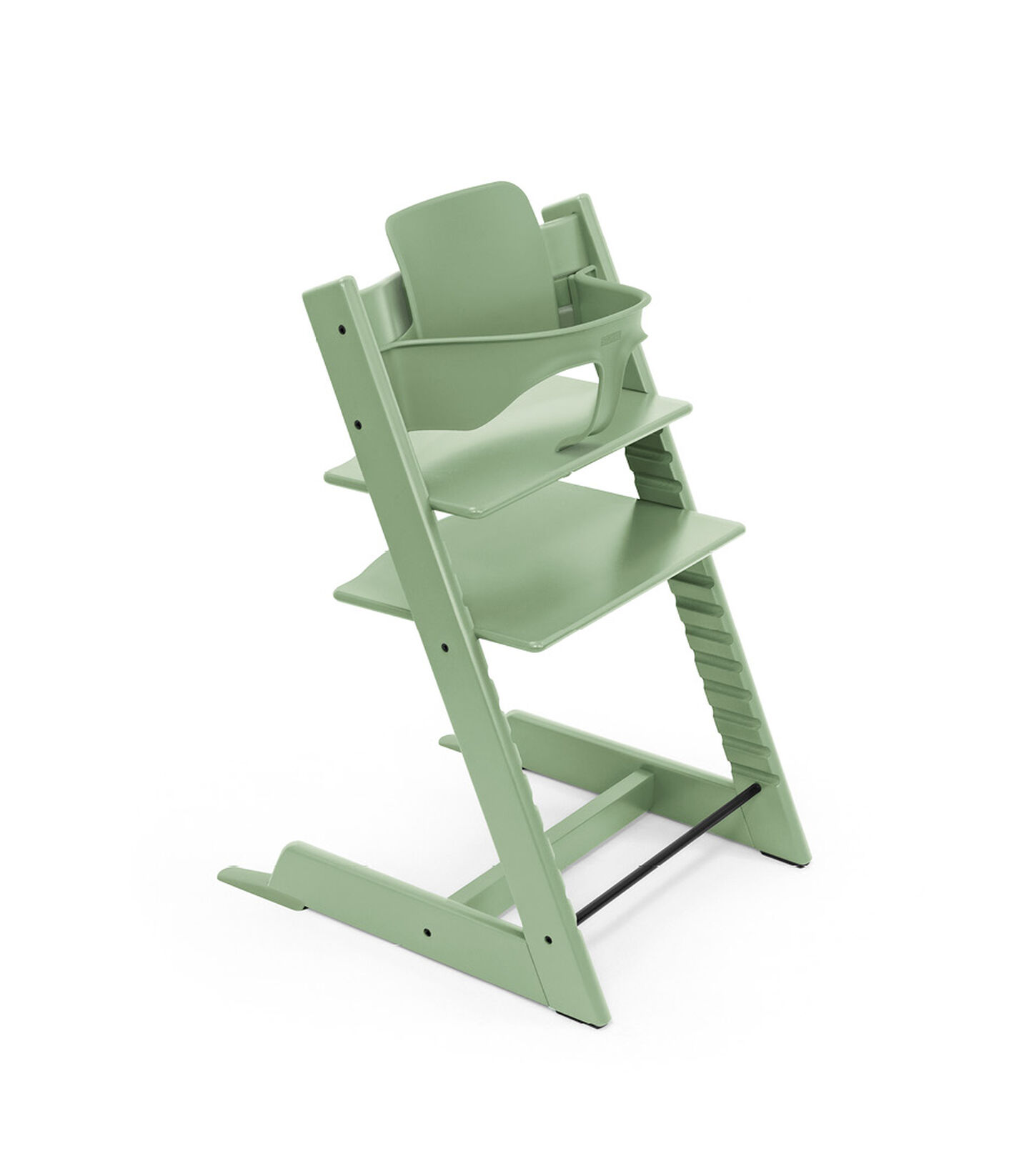 Tripp Trapp® chair Moss Green, with Baby Set. view 5