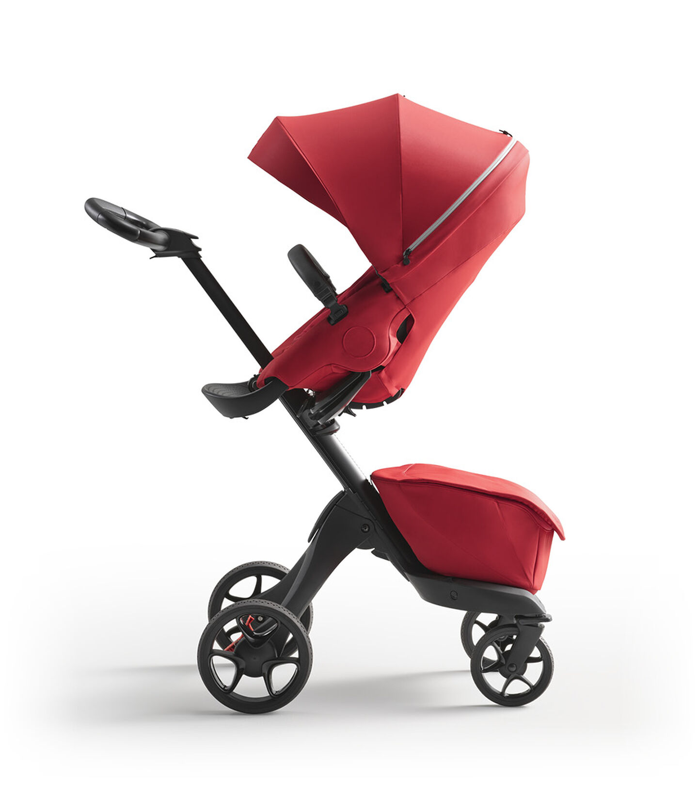 Stokke® Xplory® X Ruby Red Stroller with Seat Parent Facing view 2