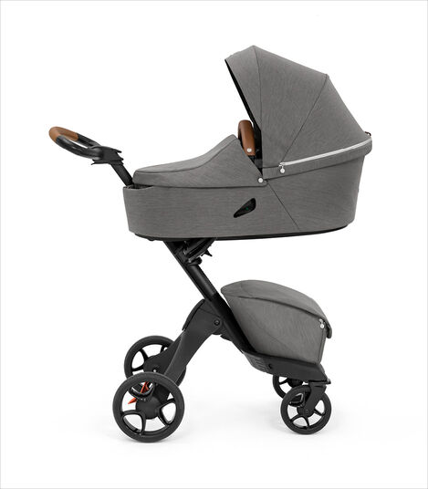 Stokke® Xplory® X Modern Grey Stroller with Carry Cot. view 2