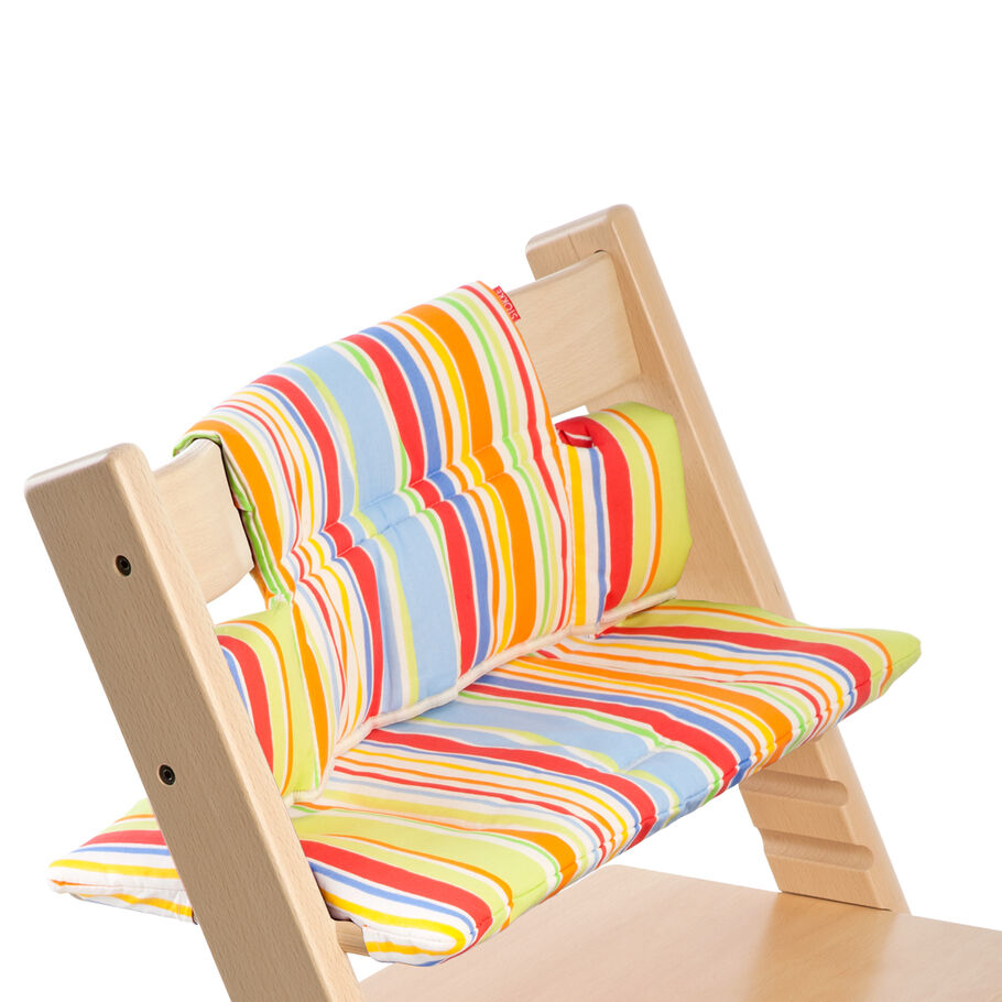 Tripp Trapp® Natural with Art Stripe Cushion