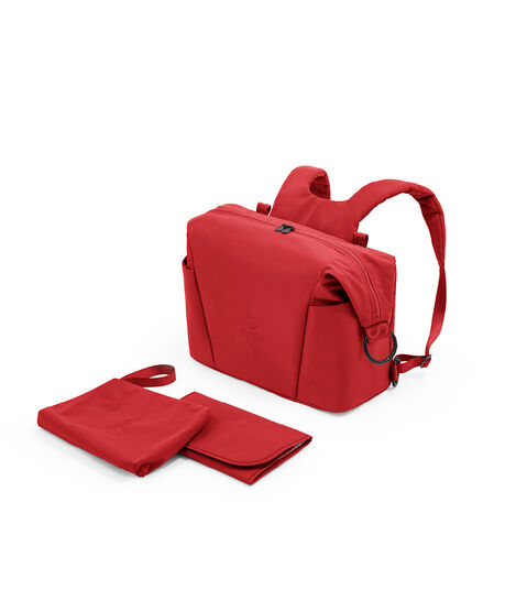 Stokke® Xplory® X Changing bag Ruby Red, Rouge Rubis, mainview view 4