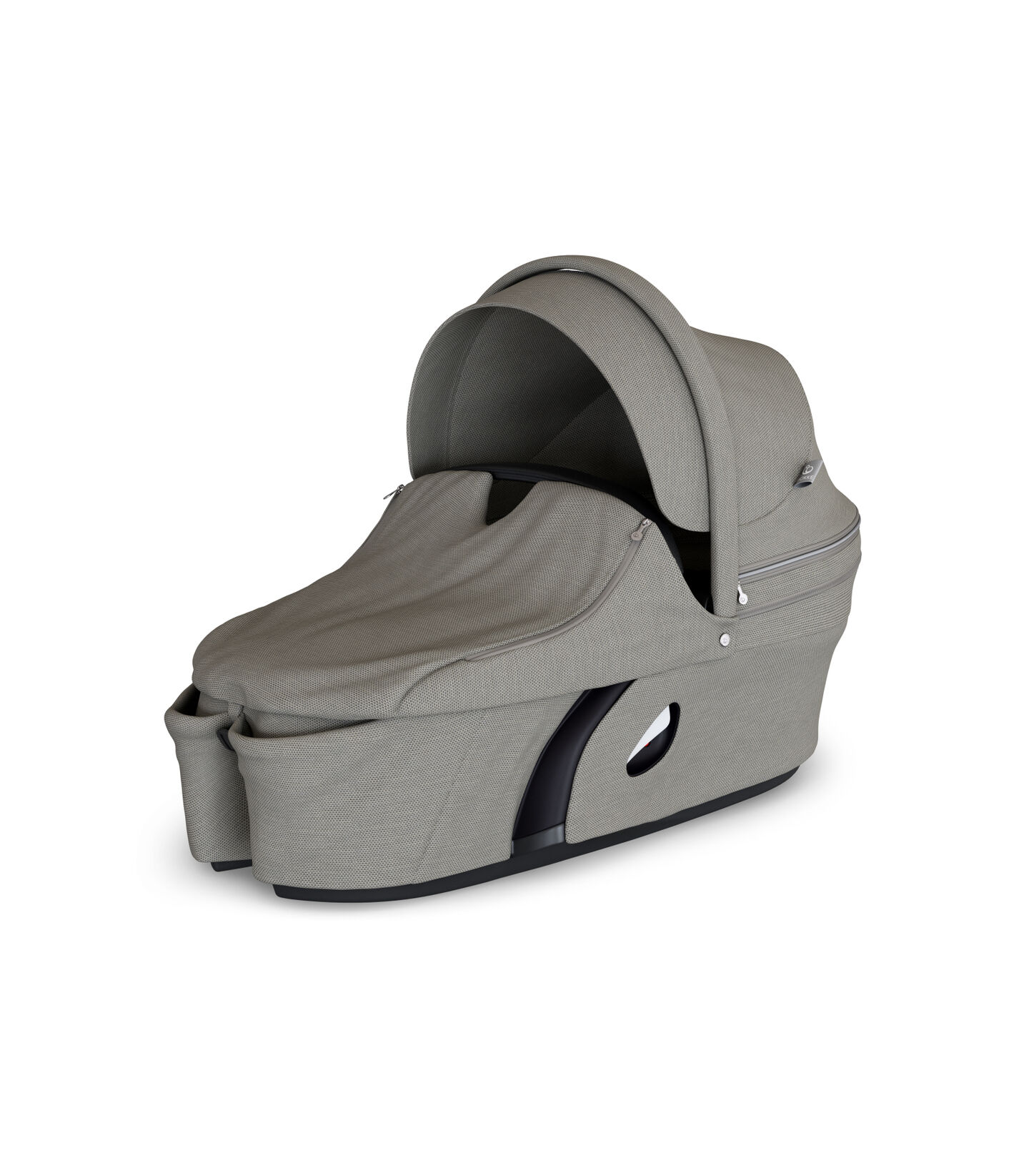 Stokke® Xplory® Carry Cot Brushed Grey. With Storm Cover.