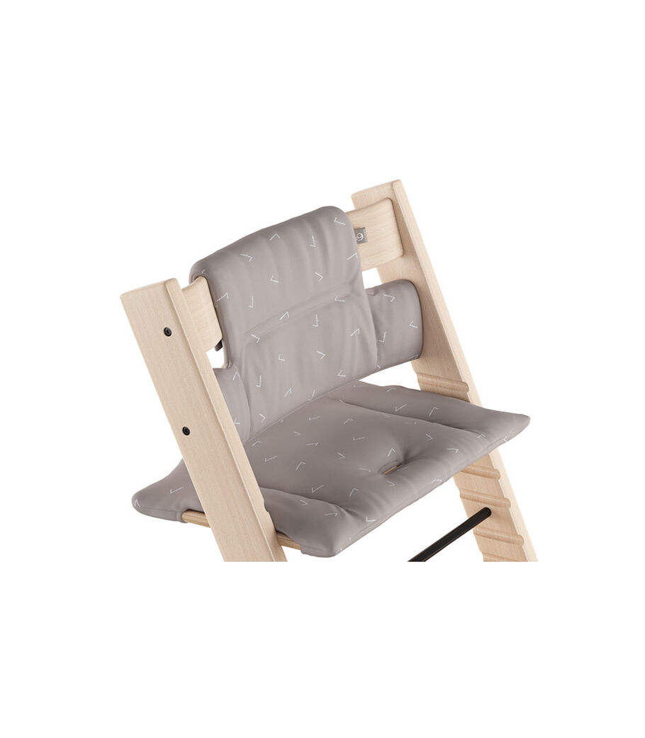 Tripp Trapp® Natural with Classic Cushion Icon Grey.