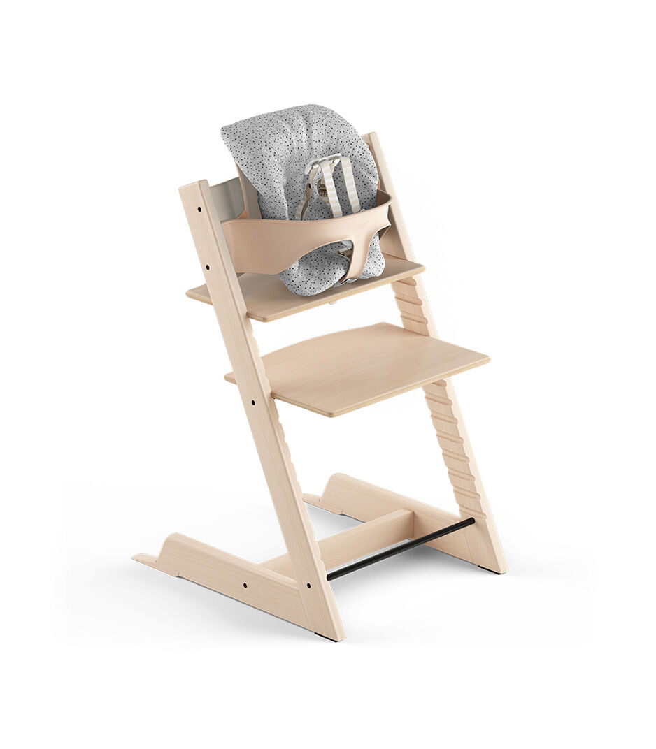 Elegant Tripp Trapp® Natural, Beech. With Tripp Trapp® Baby Set And Baby Cushion