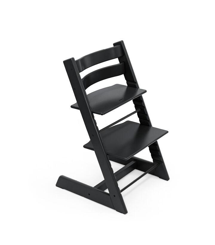 Tripp Trapp® chair Black, Beech Wood. view 1