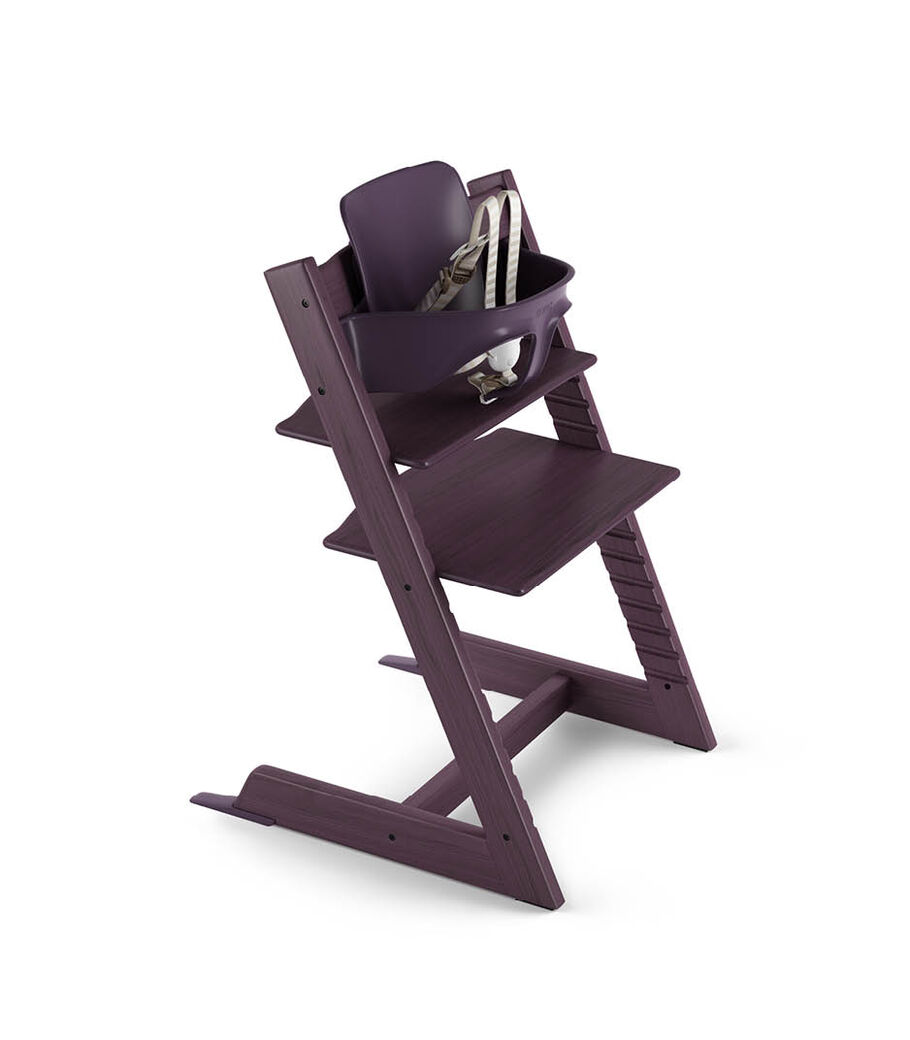 Tripp Trapp® Plum Purple with Tripp Trapp® Baby Set. US version. 3D rendering. view 50