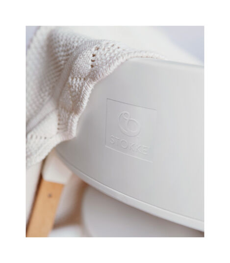 Stokke® Steps™ Chair Hazy Grey Legs with White, Hazy Grey, mainview view 4