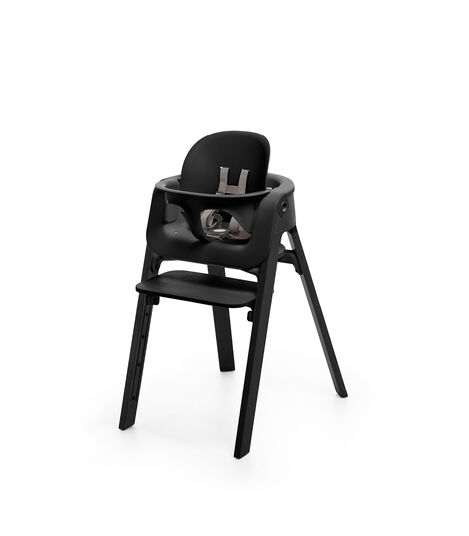 Stokke® Steps™ Beech Black with Baby Set, Black. view 3
