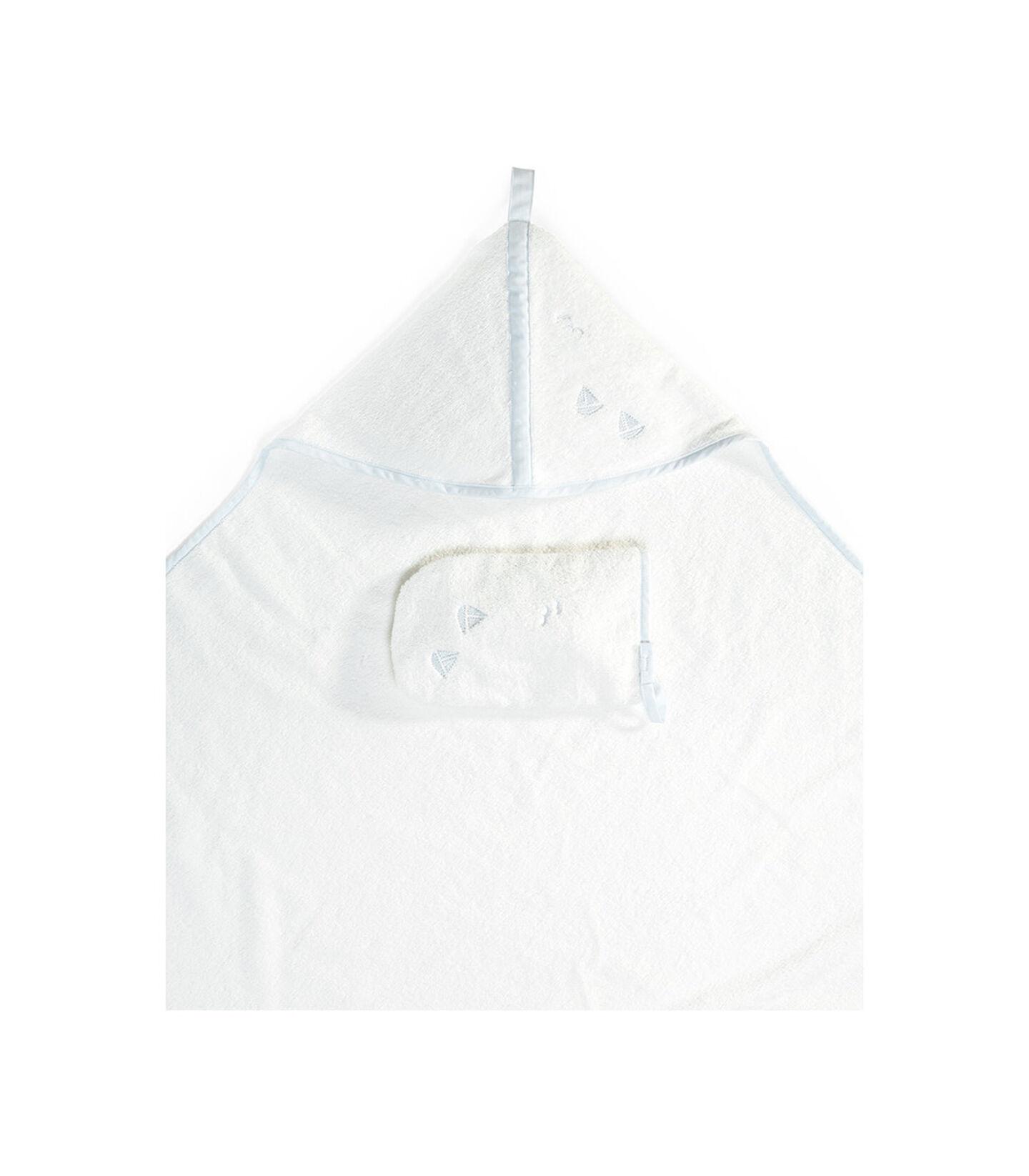 Stokke® Hooded Towel Blue Sea, Bleu océan, mainview view 2