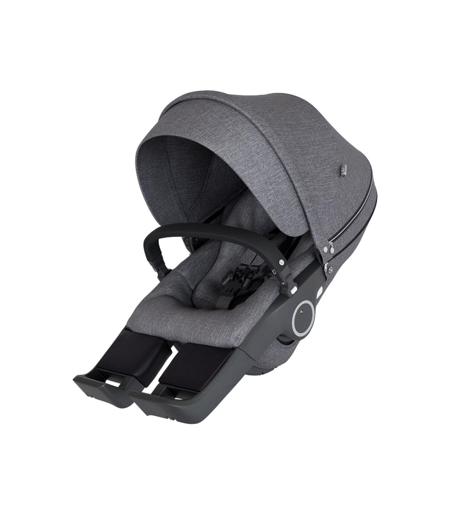 Stokke® Stroller Seat Black Melange, Black Melange, mainview