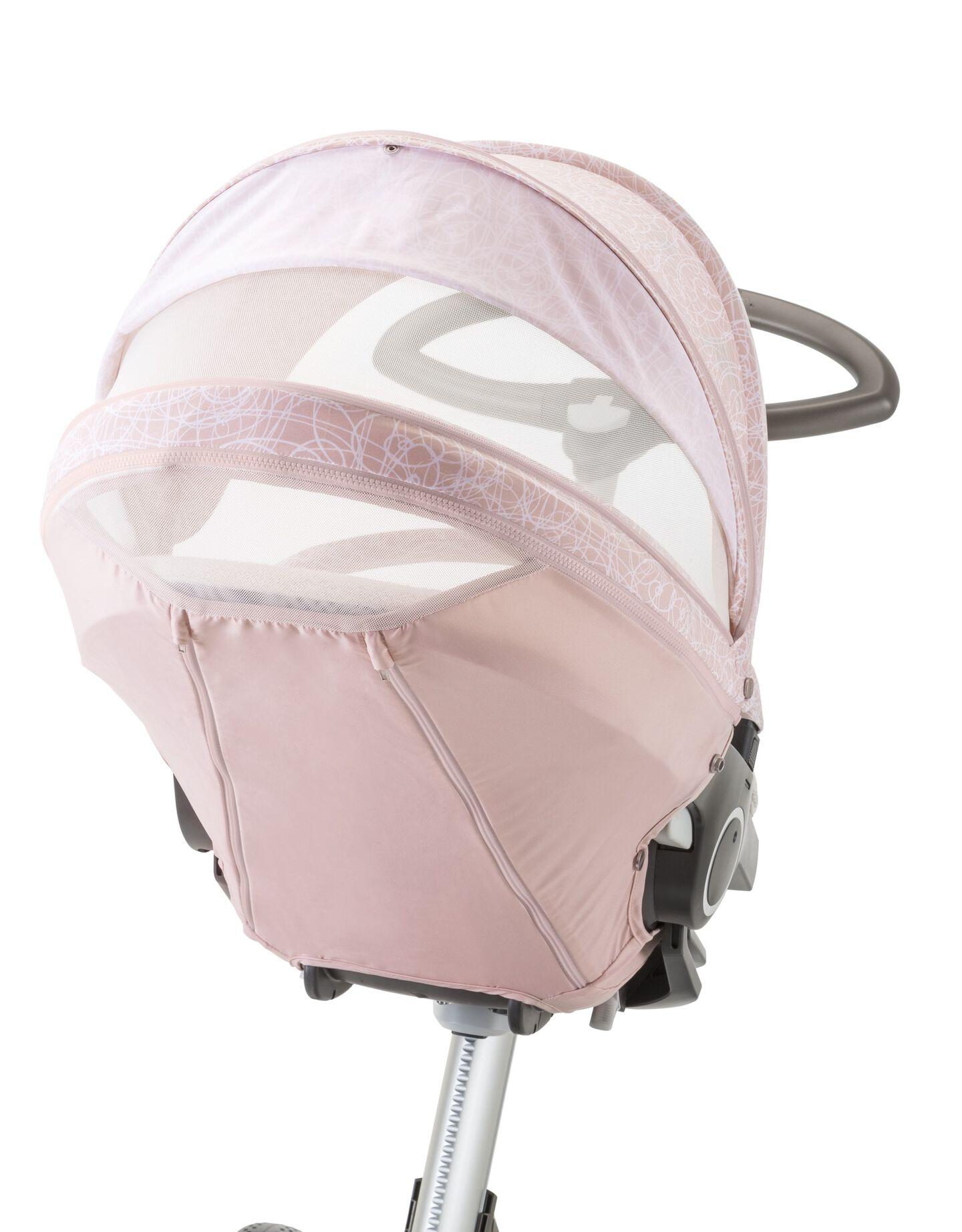 Stokke® Xplory® with Stokke® Stroller Summer Kit Scribble Faded Pink.