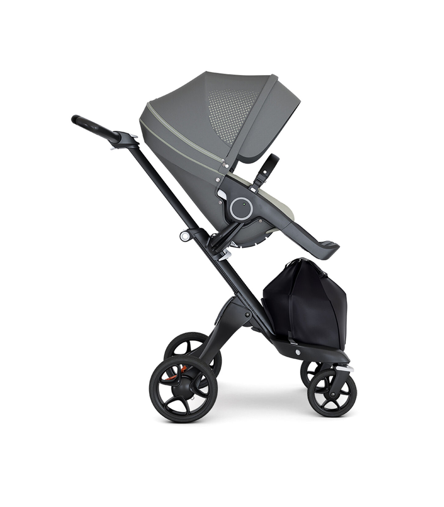 Stokke® Xplory® Black Chassis with Black Handle Athleisure Green, Athleisure Green, mainview view 2