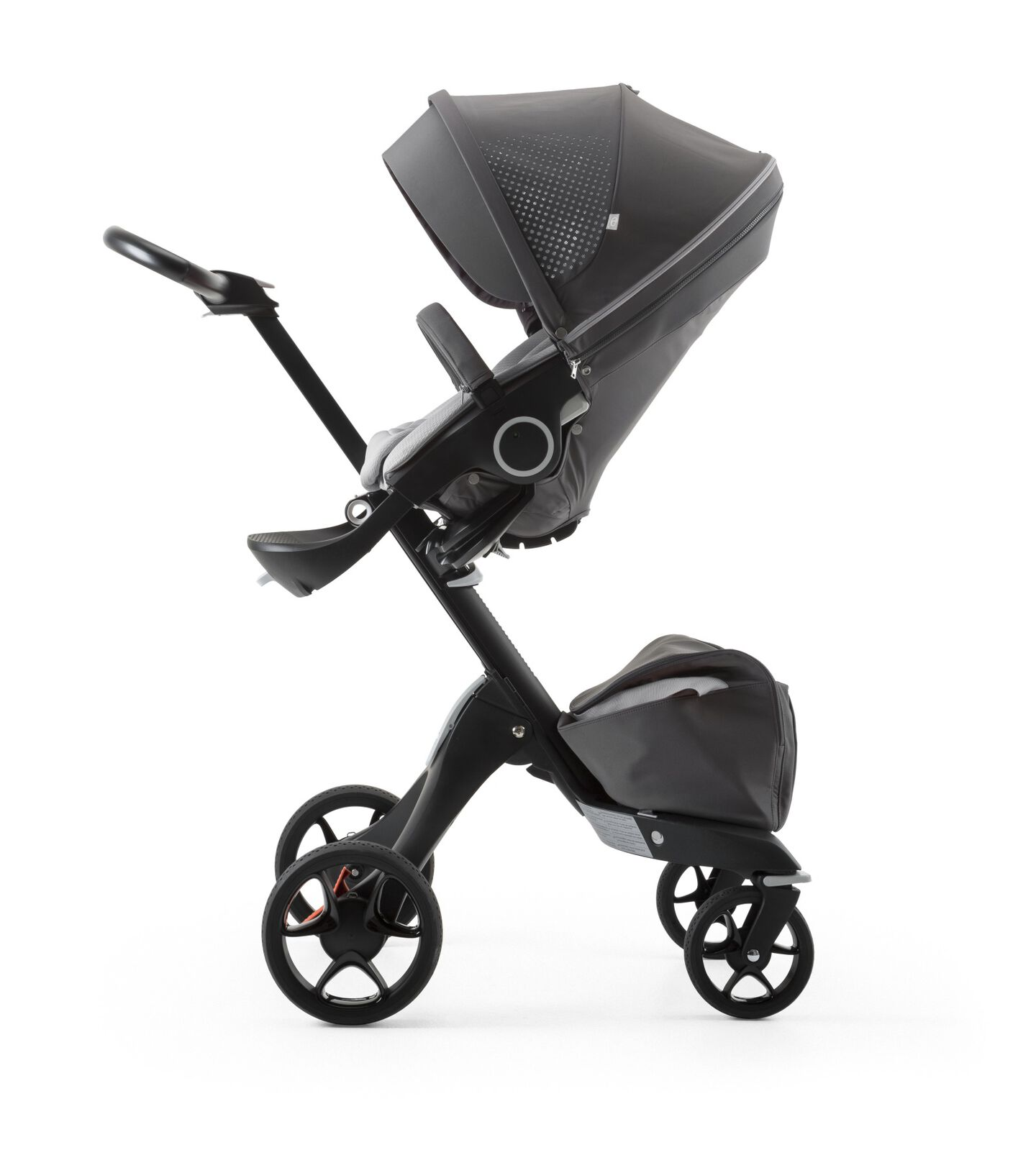 Stokke® Xplory® Black Chassis and Seat. Athleisure Grey.