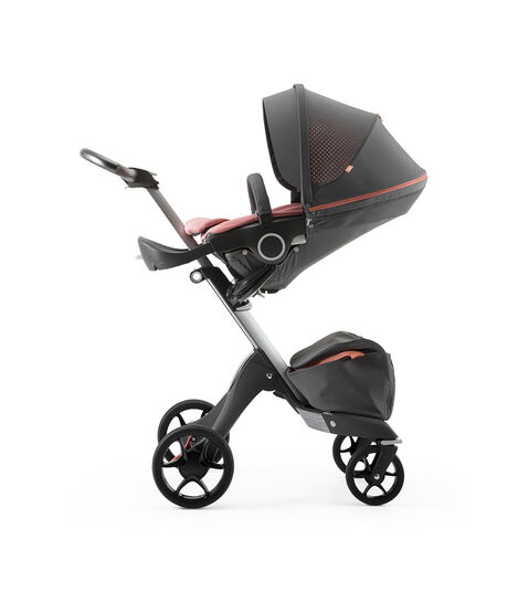 Stokke® Xplory® Silver Chassis and Seat. Athleisure Coral. view 2