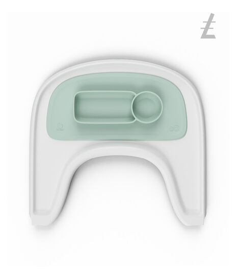 ezpz by Stokke®, Soft Mint. Stokke Tray White for Tripp Trapp®.