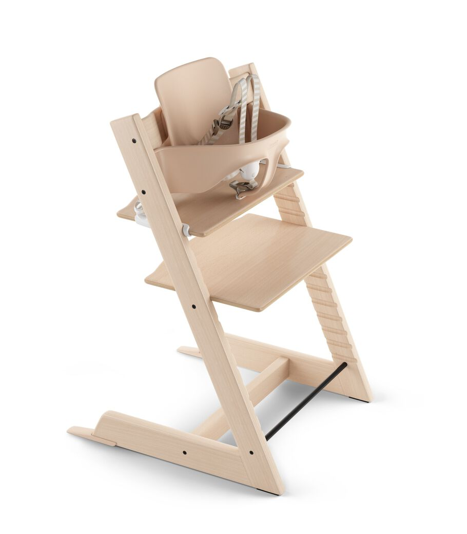Tripp Trapp® Natural with Baby set and Harness.