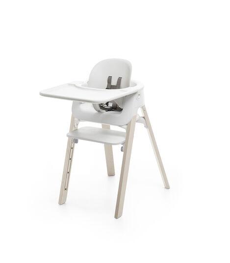 Stokke® Steps™ Baby Set con vassoio Bianco, Bianco, mainview view 3