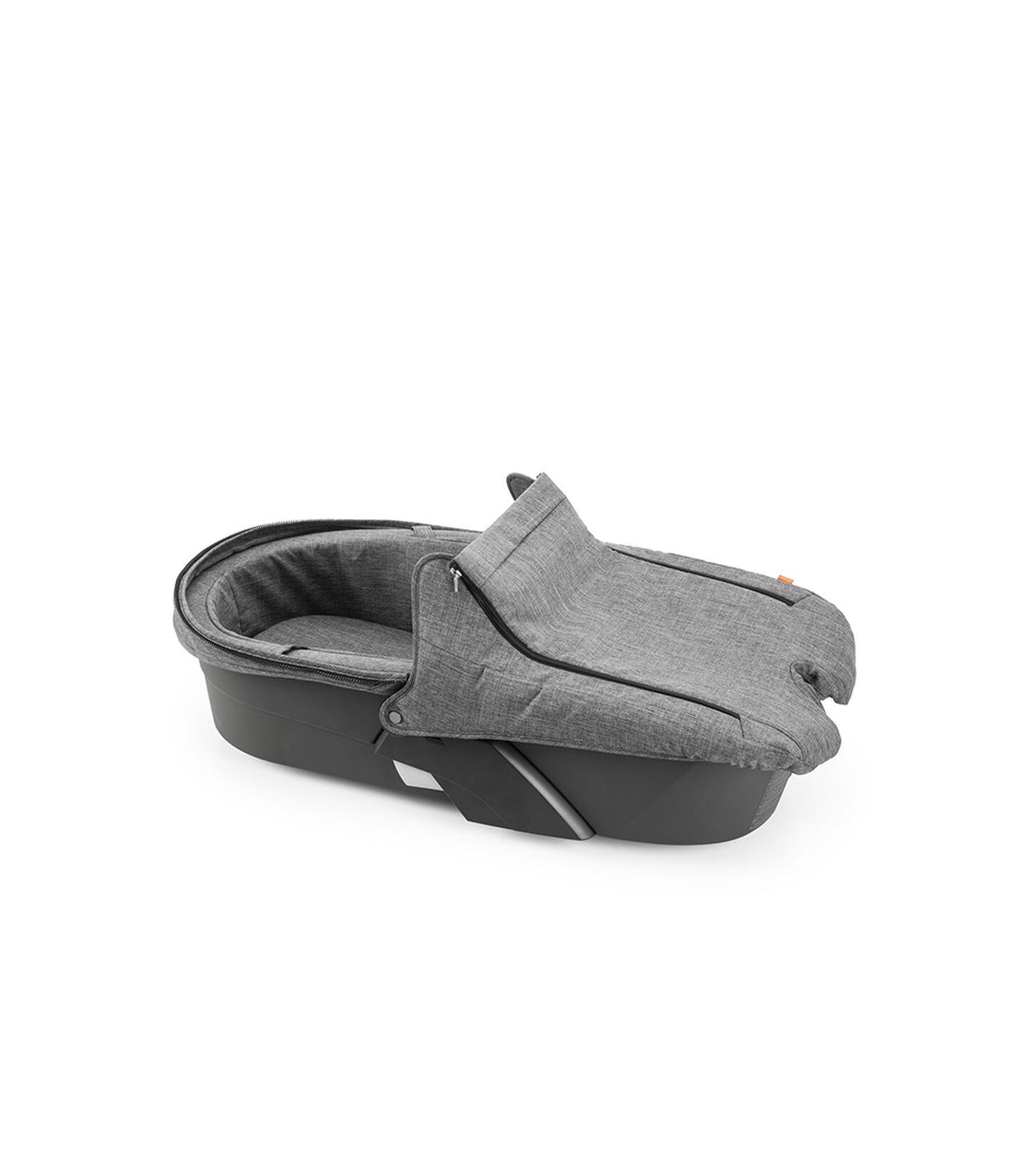 Stokke® Xplory® Carry Cot style kit Black Melange, Black Melange, mainview view 2