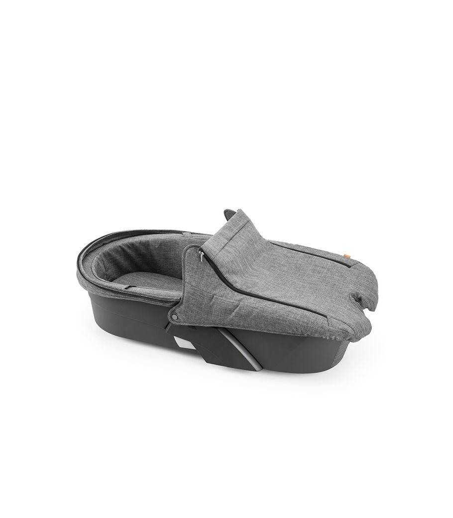 Stokke® Xplory® Carry Cot Style Kit, Black Melange, mainview view 7