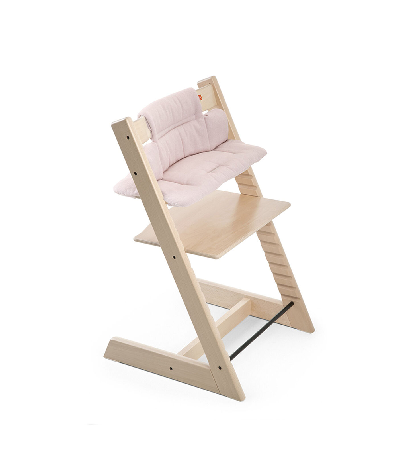 Tripp Trapp® Natural with Classic Baby Cushion Pink Tweed