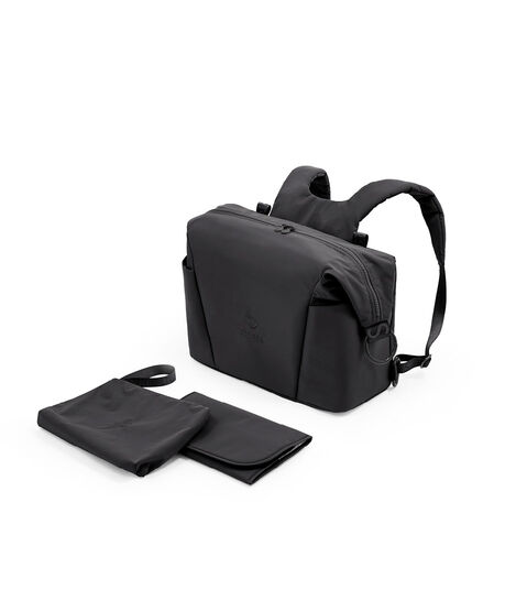 Stokke® Xplory® X Changing Bag Rich Black.  What's Included. Accessories. view 3