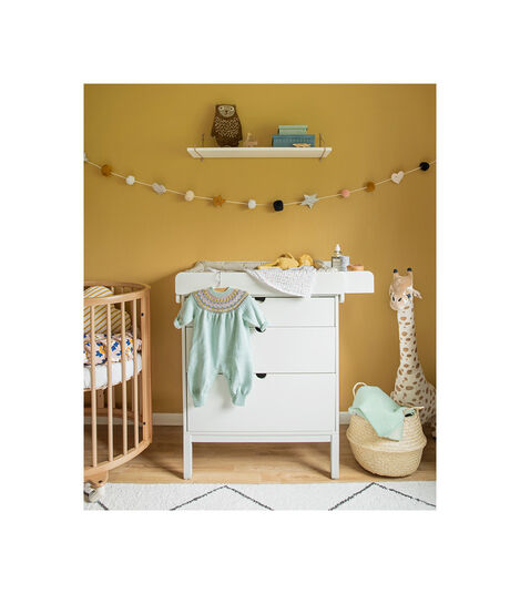 Table à langer blanche avec matelas Stokke® Home™, Blanc, mainview view 3