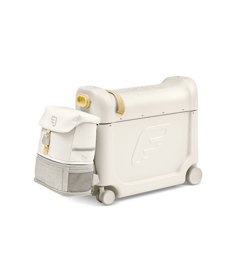 JetKids™ by Stokke® Crew BackPack on BedBox V3, Full Moon White. Bundle. view 2