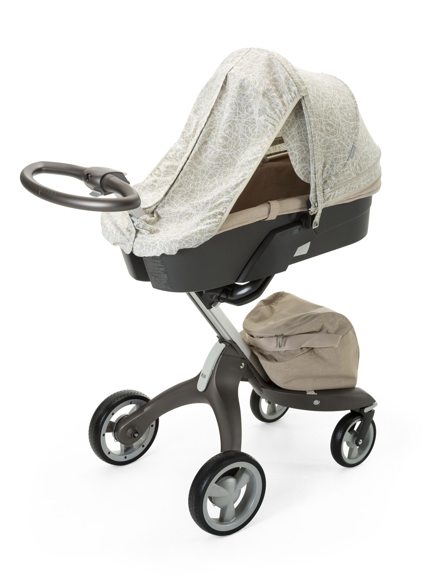 Stokke® Stroller Summer Kit Scribble Sandy Beige with Stokke® Xplory™ chassis, Melange