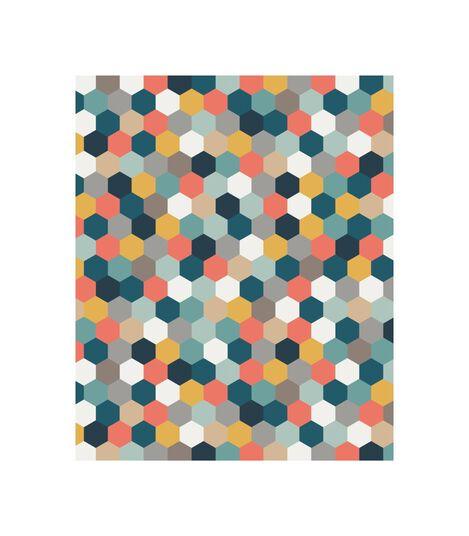 Tripp Trapp® Classic Cushion Honeycomb Happy OCS, Kleurig honingraatmotief, mainview view 4