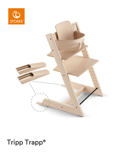 Tripp Trapp® Chair Natural, Beech, with Baby Set. view 5