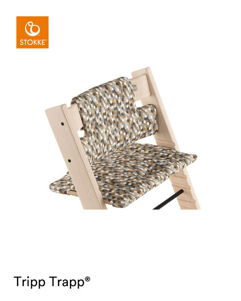 Tripp Trapp® Natural with Classic Cushion Honeycomb Calm.  view 5
