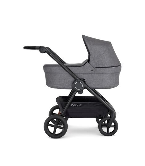 Stokke® Beat™ with Carry Cot, Black Melange. view 5