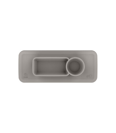 ezpz™ by Stokke™ placemat for Clikk™ Tray Green, Soft Grey, mainview view 3