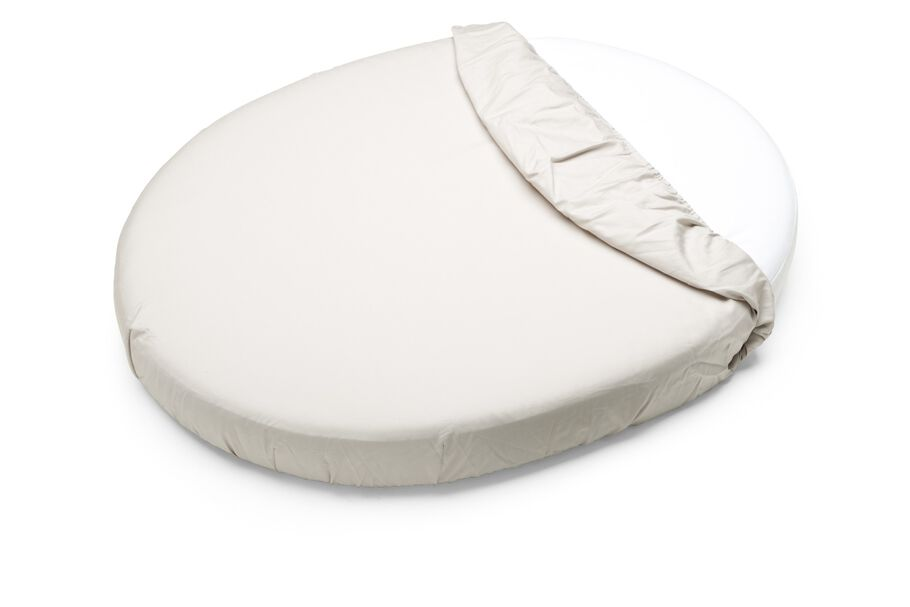 Stokke Sleepi Mini Fitted Sheet, Beige