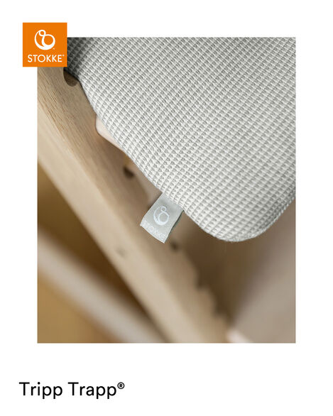 Tripp Trapp® Classic Cushion Nordic Grey on Oak Natural chair view 12